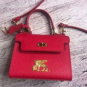New MCM red RGB satchel (Nordstrom Exclusive)